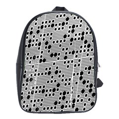 Metal Background Round Holes School Bags(Large)