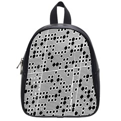 Metal Background Round Holes School Bags (small)