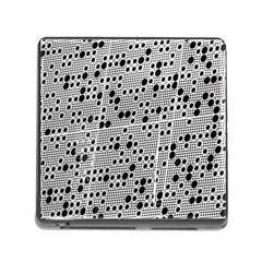 Metal Background Round Holes Memory Card Reader (square)