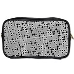 Metal Background Round Holes Toiletries Bags Front