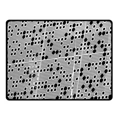 Metal Background Round Holes Fleece Blanket (small)