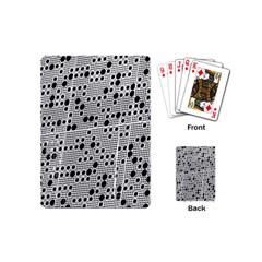 Metal Background Round Holes Playing Cards (mini)