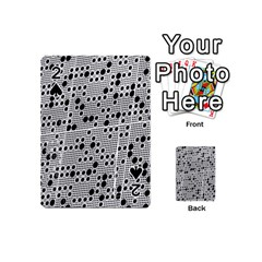 Metal Background Round Holes Playing Cards 54 (mini)