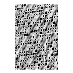 Metal Background Round Holes Shower Curtain 48  X 72  (small)
