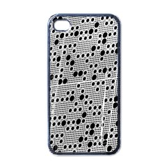 Metal Background Round Holes Apple Iphone 4 Case (black)