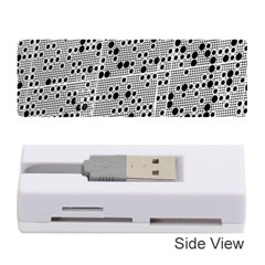 Metal Background Round Holes Memory Card Reader (stick)