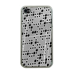 Metal Background Round Holes Apple Iphone 4 Case (clear)