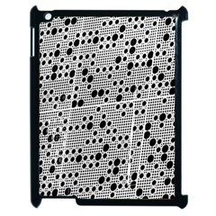 Metal Background Round Holes Apple Ipad 2 Case (black)