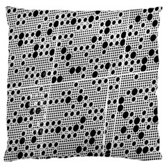 Metal Background Round Holes Large Cushion Case (two Sides)