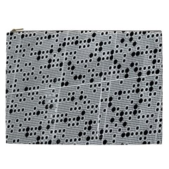 Metal Background Round Holes Cosmetic Bag (xxl)