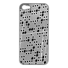 Metal Background Round Holes Apple Iphone 5 Case (silver)