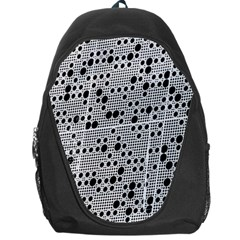 Metal Background Round Holes Backpack Bag