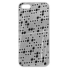 Metal Background Round Holes Apple Seamless Iphone 5 Case (clear)