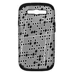 Metal Background Round Holes Samsung Galaxy S Iii Hardshell Case (pc+silicone)