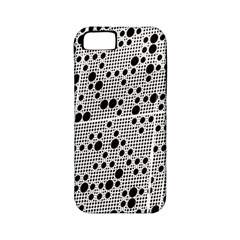 Metal Background Round Holes Apple Iphone 5 Classic Hardshell Case (pc+silicone)