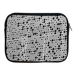 Metal Background Round Holes Apple Ipad 2/3/4 Zipper Cases