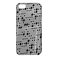 Metal Background Round Holes Apple Iphone 5c Hardshell Case