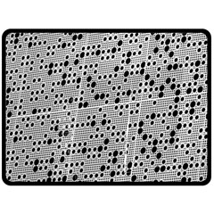 Metal Background Round Holes Double Sided Fleece Blanket (large)