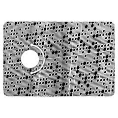 Metal Background Round Holes Kindle Fire Hdx Flip 360 Case