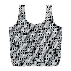 Metal Background Round Holes Full Print Recycle Bags (l)
