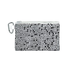 Metal Background Round Holes Canvas Cosmetic Bag (s)