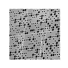 Metal Background Round Holes Small Satin Scarf (square)