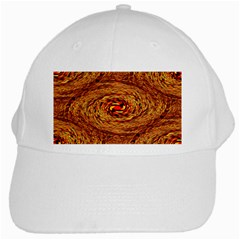 Orange Seamless Psychedelic Pattern White Cap