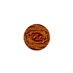 Orange Seamless Psychedelic Pattern 1  Mini Buttons