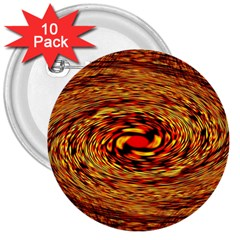 Orange Seamless Psychedelic Pattern 3  Buttons (10 Pack)