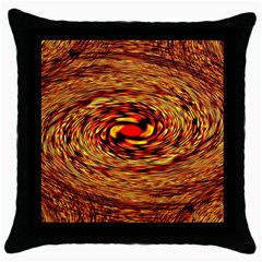 Orange Seamless Psychedelic Pattern Throw Pillow Case (black)