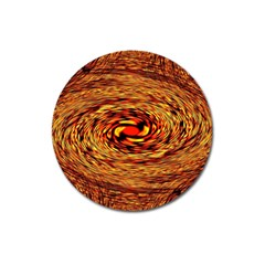 Orange Seamless Psychedelic Pattern Magnet 3  (Round)
