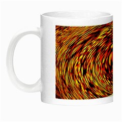 Orange Seamless Psychedelic Pattern Night Luminous Mugs
