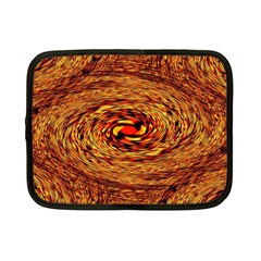 Orange Seamless Psychedelic Pattern Netbook Case (small)