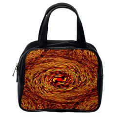 Orange Seamless Psychedelic Pattern Classic Handbags (one Side)