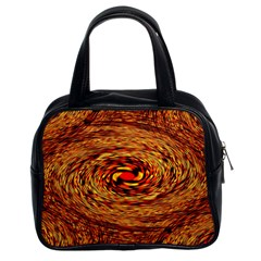 Orange Seamless Psychedelic Pattern Classic Handbags (2 Sides)