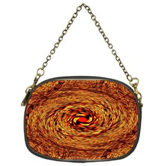 Orange Seamless Psychedelic Pattern Chain Purses (one Side)