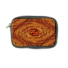 Orange Seamless Psychedelic Pattern Coin Purse