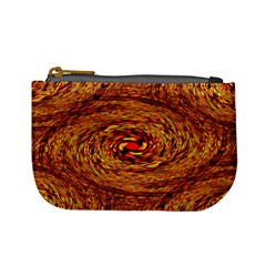 Orange Seamless Psychedelic Pattern Mini Coin Purses