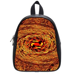 Orange Seamless Psychedelic Pattern School Bags (small)