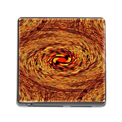 Orange Seamless Psychedelic Pattern Memory Card Reader (square)