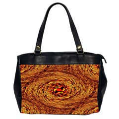 Orange Seamless Psychedelic Pattern Office Handbags (2 Sides)
