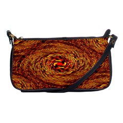 Orange Seamless Psychedelic Pattern Shoulder Clutch Bags