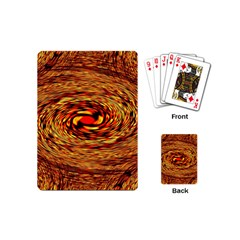 Orange Seamless Psychedelic Pattern Playing Cards (mini)