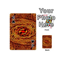 Orange Seamless Psychedelic Pattern Playing Cards 54 (mini)