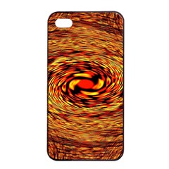 Orange Seamless Psychedelic Pattern Apple Iphone 4/4s Seamless Case (black)