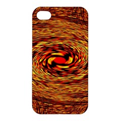 Orange Seamless Psychedelic Pattern Apple Iphone 4/4s Hardshell Case