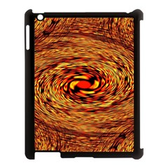 Orange Seamless Psychedelic Pattern Apple Ipad 3/4 Case (black)