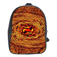 Orange Seamless Psychedelic Pattern School Bags (xl)