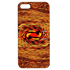 Orange Seamless Psychedelic Pattern Apple Iphone 5 Hardshell Case With Stand