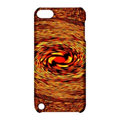 Orange Seamless Psychedelic Pattern Apple Ipod Touch 5 Hardshell Case With Stand